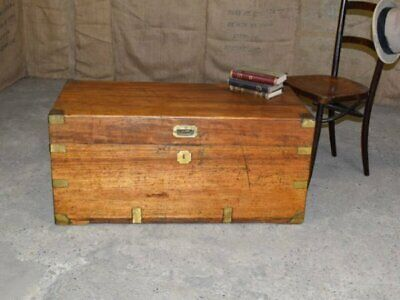 CAMPHOR WOOD CAMPAIGN TRUNK - London & Local Delivery Options