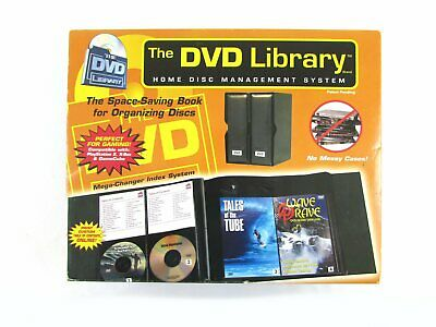 DVD Library 52 Disc Binder Book Case Organizer Deluxe Imitation Leather