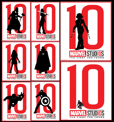 Topps Marvel Collect Card Trader First Ten Years Silhouettes White [8 Cards]