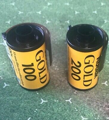 2 Rolls Of Kodak Gold 24 Exposure 35mm Color Film Expired 100 And 200