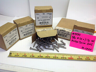 "Stainless  #10 x 1-1/4"" Oval Head Phillips Sheet metal Screws (#1490-SR-Cart)"