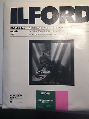 Ilford Multigrade IV FB Fiber Glossy 8 x 10 Photographic Paper 25 sheets NOS