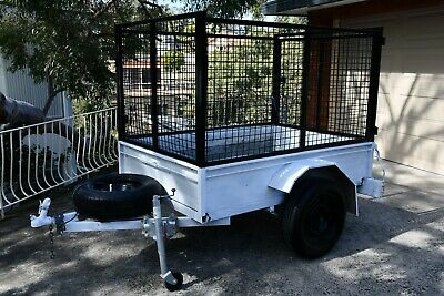 Box Trailer 6x4 with 900mm Cage