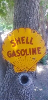 """"""" Shell CO"""" gas and oil 12x12"""" Pump plate."""