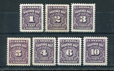CANADA Scott J15 to J20 - NH - Complete Set Fourth Postage Due Issue (.016)