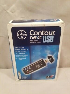 Brand New Bayer Contour Next USB Blood Glucose Monitoring System