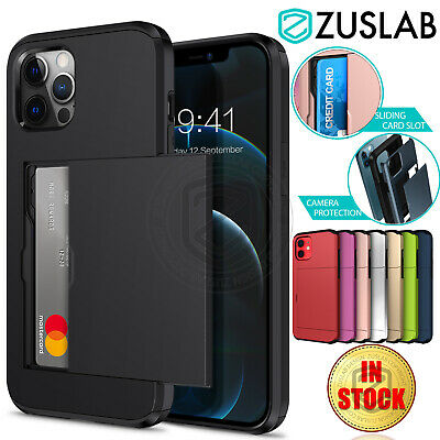 iPhone 11 Pro Max ZUSLAB Case Wallet Card Holder Shockproof Cover for Apple