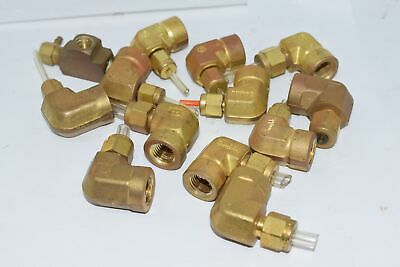 Lot of 13 Parker Swagelok Brass Fitting Mixed Lot