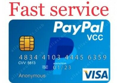VCC for Paypal Verifiacation Vitual Credit card-Fast Delivery