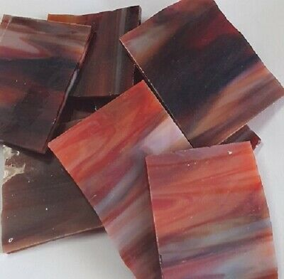 Stained Glass Pieces - 200grams - Volcanic