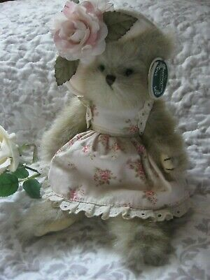 Gorgeous Collectable Bearington Bear.Augusta.Tags,Numbered.Hat,Rose Fabric.Sweet