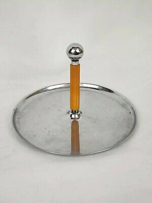 Vintage Mid Century Serving Condiment Bowl Server Chrome Caddy American Bakelite