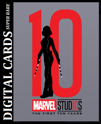 Topps Marvel Collect Card Trader First Ten Years Silhouettes Die Cut Black Widow