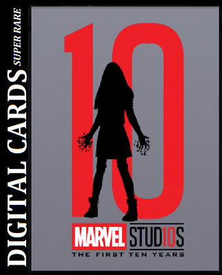 Topps Marvel Collect Card Trader First Ten Years Silhouettes Die Cut Scarlet Wit