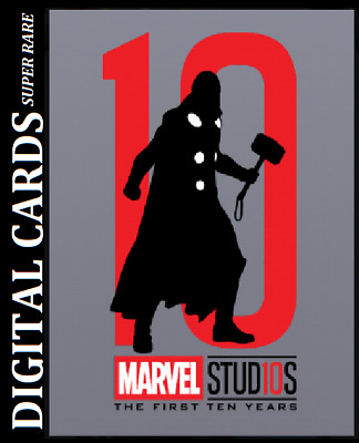 Topps Marvel Collect Card Trader First Ten Years Silhouettes Die Cut Thor