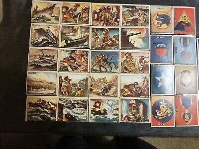 1950 Topps Freedom's War Cards Lot Of 30