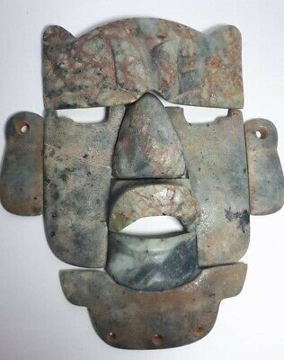 Extremely Rare Olmec Jade Mosaic mask from Mexico.