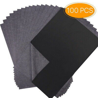A4 Paper Carbon Transfer Graphite Paper 100 Sheets Tracing Drawing Durable Wood