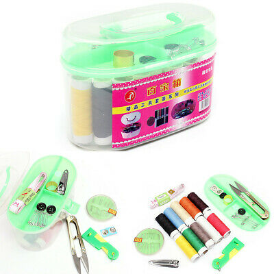 Sewing Kit Set Box Thread Threader Needle Tape Measure Scissor Thimble Storage
