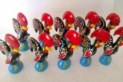 Lot of 10 Rooster of Barcelos, Approximately 9cm (3.54 inches) tall each