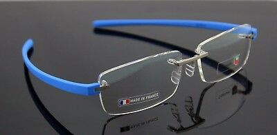 $550 Genuine TAG HEUER Reflex 3 Pure Blue Azur Eye Glasses Frame TH3942 010 6015