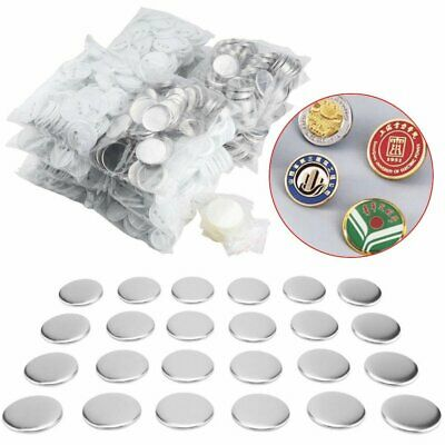 100x 25/32/37/58mm Round Pin Badge Button Parts Supplies for Button Maker Badge