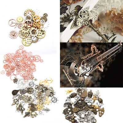 100G Metal Bronze Steampunk Cogs And Gears Mix Part Clock Watch Craft Charm Gift