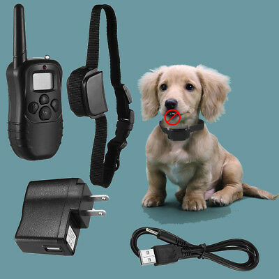 Waterproof Shock Vibra Training Collar for Small Med Large Dog Remote 300 Yard U