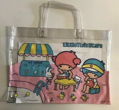 Little Twin Stars 1976 Sanrio Vintage Shopper Bag Rare!!!