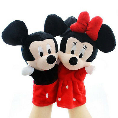 Cute Cartoon Mickey Kids Lovely Glove Puppets Dolls Educational Soft Play Toys
