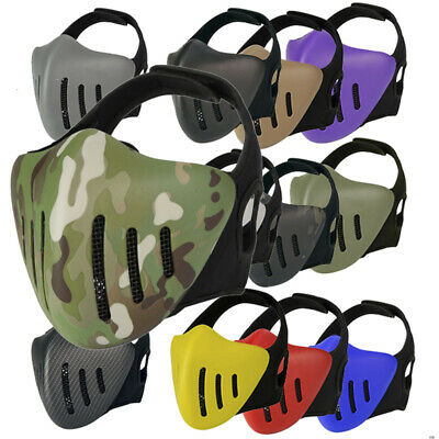 WoSporT Tactical Airsoft Hunting Paintball Half Face Mask Cover Protective Gear