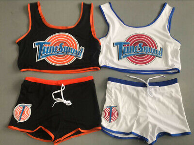 Space Jam Tune Squad Ladies Set Girls Jersey With Shorts LOLA BUGS Stitched