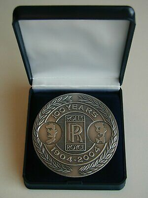pewter medallion 100 years Rolls Royce Motor Cars 1904 – 2004