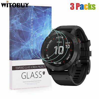 For Garmin Fenix 6 Series Tempered Glass Screen Protector 9H Hardness(3 Packs)