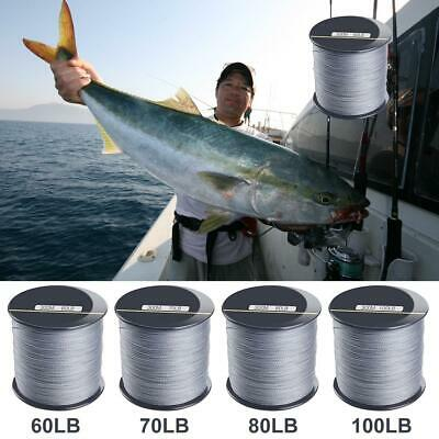 300m Super Fishing Line PE Spectra Braided Line 4 Strands Moss Green 60-100LB