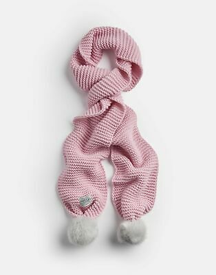 Joules 124981 Knitted Pom Scarf in ROSE PINK in One Size