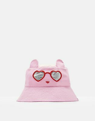 Joules Girls Hattie Character Hat in PINK SUNGLASSES