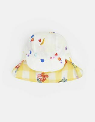 Joules Baby Sunny Reversible Hat in WHITE FRUIT