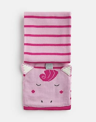 Joules Girls Chummy Character Scarf in PINK UNICORN in One Size