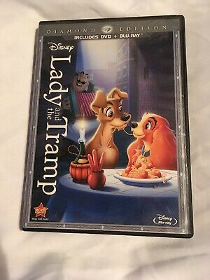 Lady and the Tramp (Blu-ray/DVD, 2012, 2-Disc Set, Diamond Edition) Used