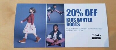 20% Off Kids Winter Boots Clarks Outlet Discount Voucher Coupon 14.09-13.10.19