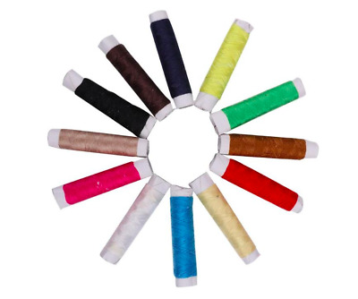12 Colour Spools Finest Quality Sewing All Purpose Polyester Thread Reel Sew