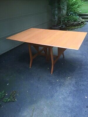 Heywood Wakefield Solid Maple M1549 Drop Leaf Dining Table