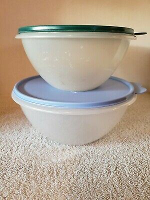 2 Vintage TUPPERWARE Wonderlier Bowls #236, #237 with Lids