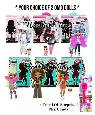 Choose 2 LOL Surprise OMG Dolls Series 1 Snowlicious Dollie Cosmic Bee Diva Neon