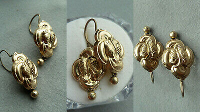 MMBC Biedermeier Ohrringe earrings antik Damen Schmuck Design 585 Gold