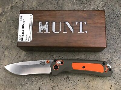 Benchmade HUNT 15061 Grizzly Ridge Folding Knife Grivory Handle