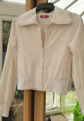 Here There Jacket Coat Girls Womens Ladies Size S 176 cm White TkMaxx