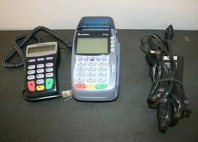 VeriFone OMNI 5750 VX570 Credit Card Reader  and 1000se Pinpad  W/Power Cord