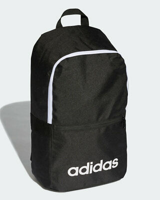 Adidas Bag Backpack Rucksack Black Linear Classic Daily Sportswear